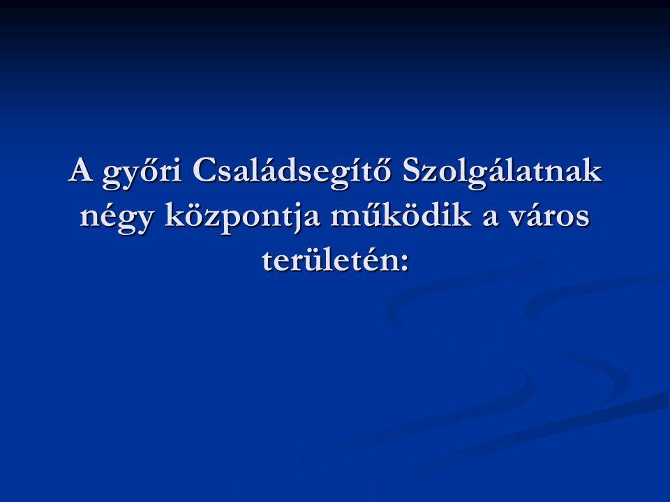 A győri Családsegítő Szolgálatnak négy központja működik a város területén: