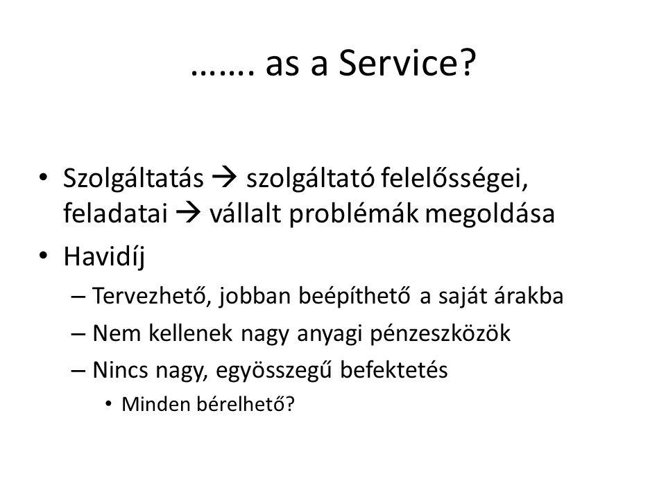 ……. as a Service.
