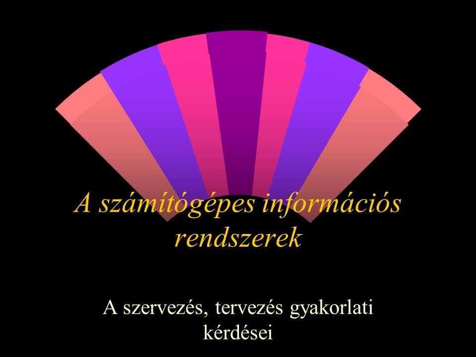 A számítógépes információs rendszerek A szervezés, tervezés gyakorlati kérdései
