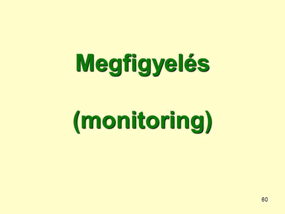 60 Megfigyelés (monitoring)