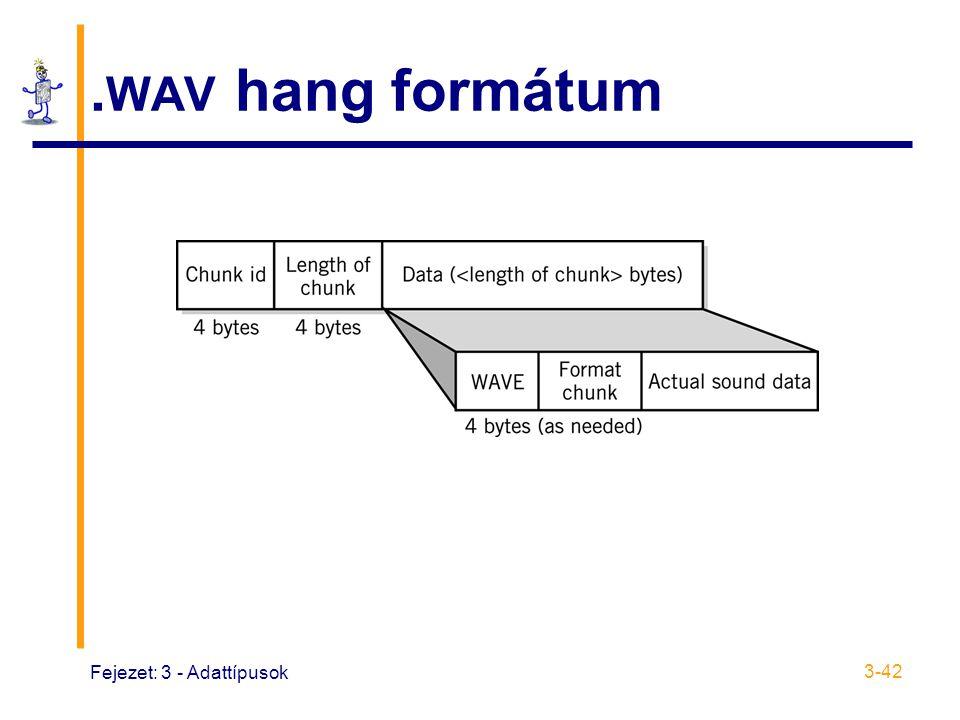 Fejezet: 3 - Adattípusok 3-42. WAV hang formátum