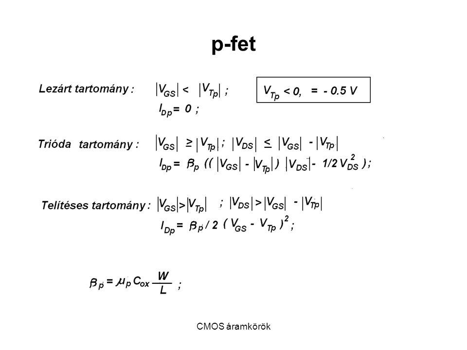 CMOS áramkörök p-fet