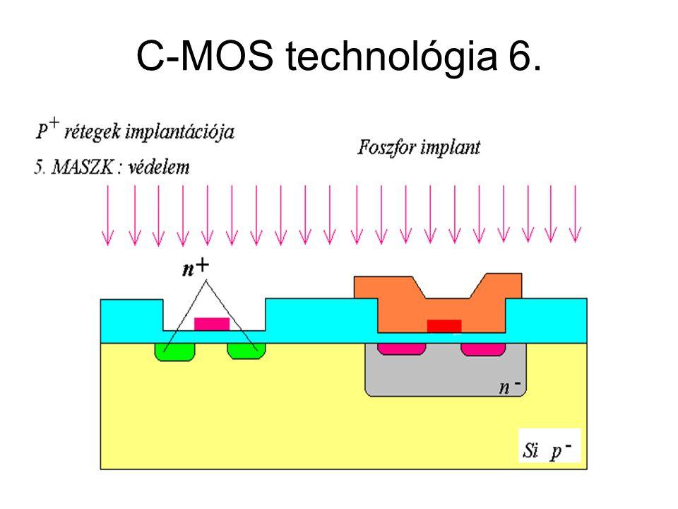 CMOS áramkörök C-MOS technológia 6.