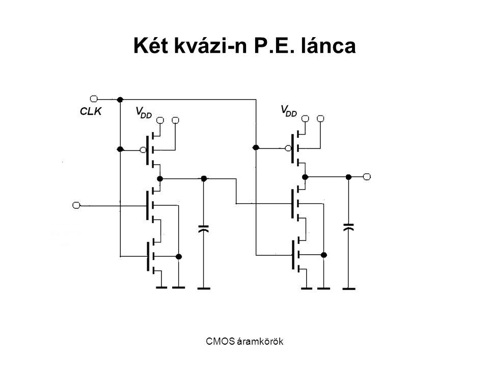 CMOS áramkörök Két kvázi-n P.E. lánca
