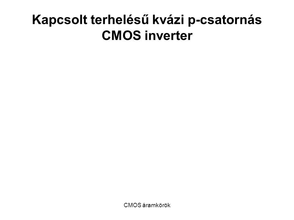 CMOS áramkörök Kapcsolt terhelésű kvázi p-csatornás CMOS inverter