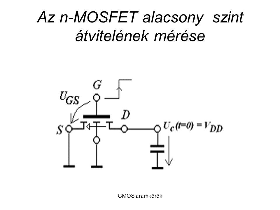 CMOS áramkörök Az n-MOSFET alacsony szint átvitelének mérése