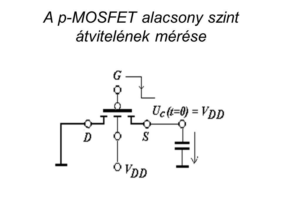 CMOS áramkörök A p-MOSFET alacsony szint átvitelének mérése