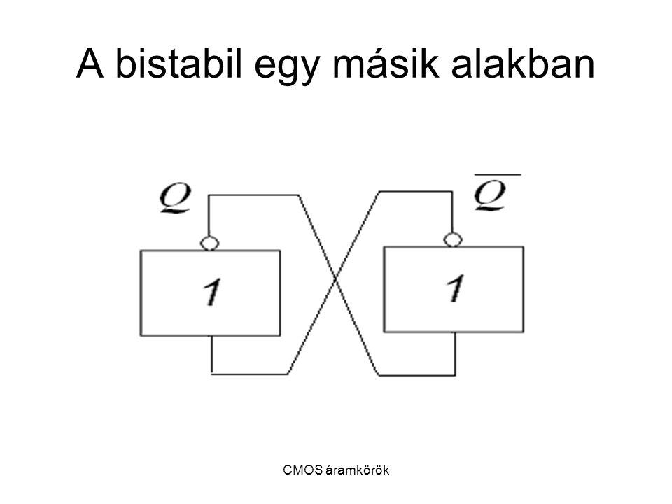 CMOS áramkörök A bistabil egy másik alakban