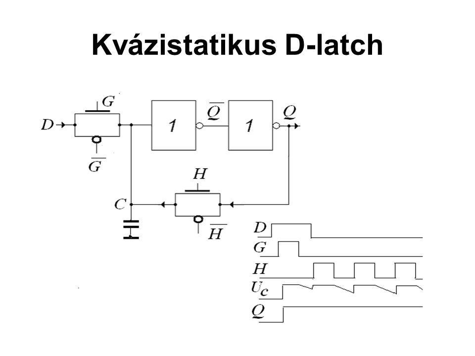 CMOS áramkörök Kvázistatikus D-latch