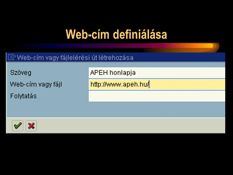 Web-cím definiálása