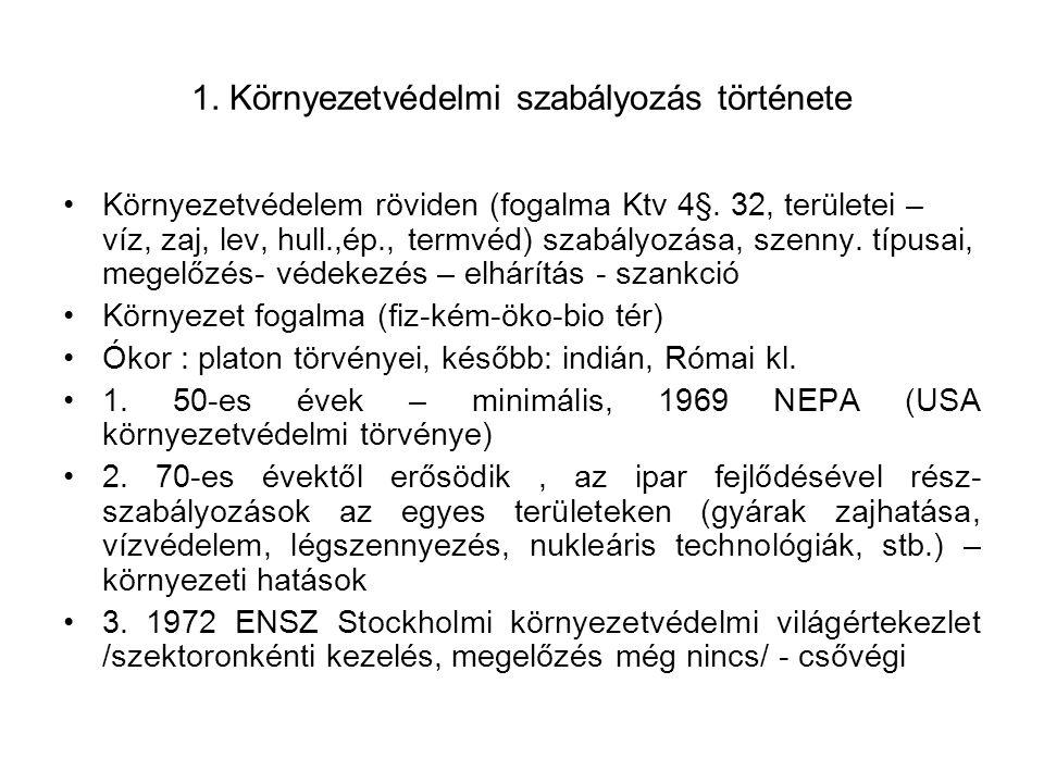 Egységes irányelvek az EU jogban 1.Legkisebb szigor vagy védelmi záradék: körny.védelemben használt szigorításokról 2.