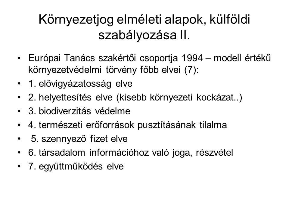 Gazdasági eszközök a magyar jogban, önszabályozás, ellenőrzés Környezetterhelési díj: levegőterhelési díj (tüz.