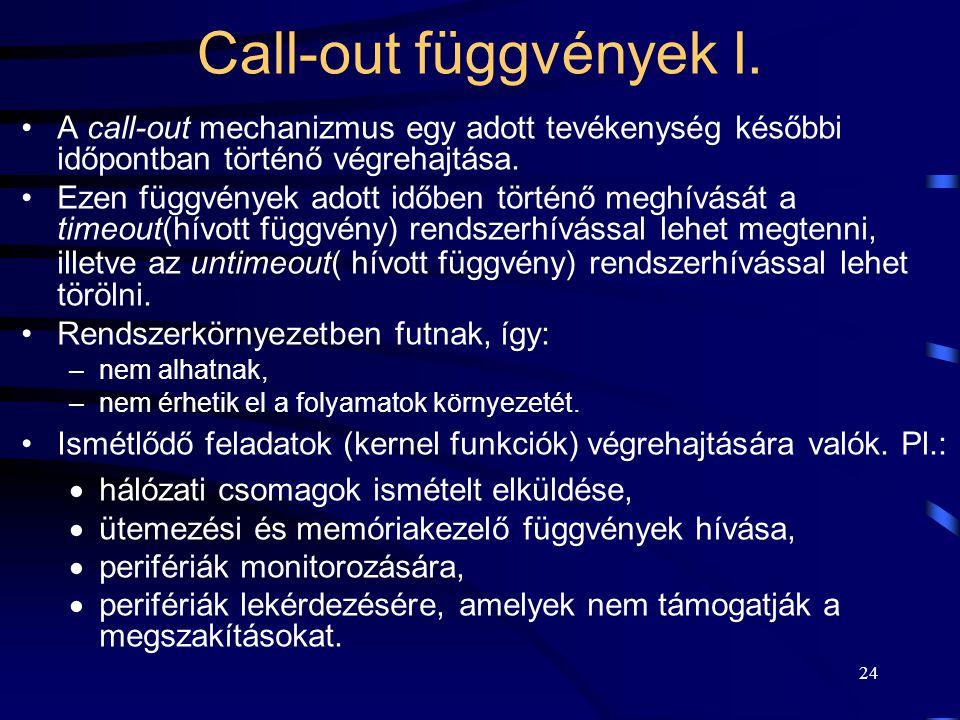 24 Call-out függvények I.