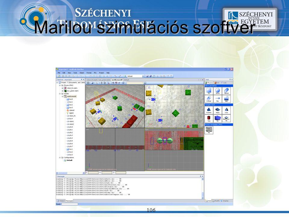 Marilou szimulációs szoftver 106