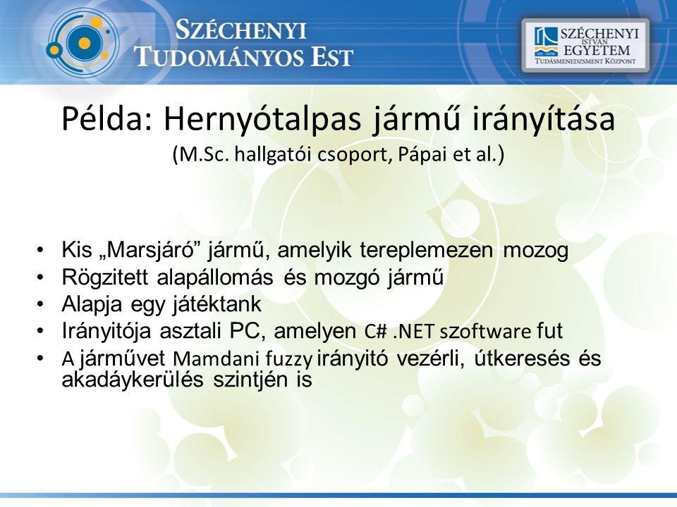 Példa: Hernyótalpas jármű irányítása (M.Sc. hallgatói csoport, Pápai et al.
