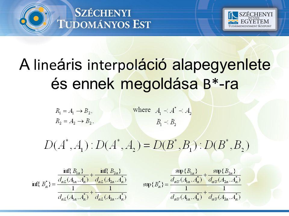 A line á r is interpol áció alapegyenlete és ennek megoldása B* -ra where
