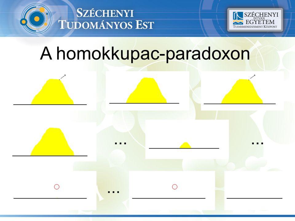 A homokkupac-paradoxon...