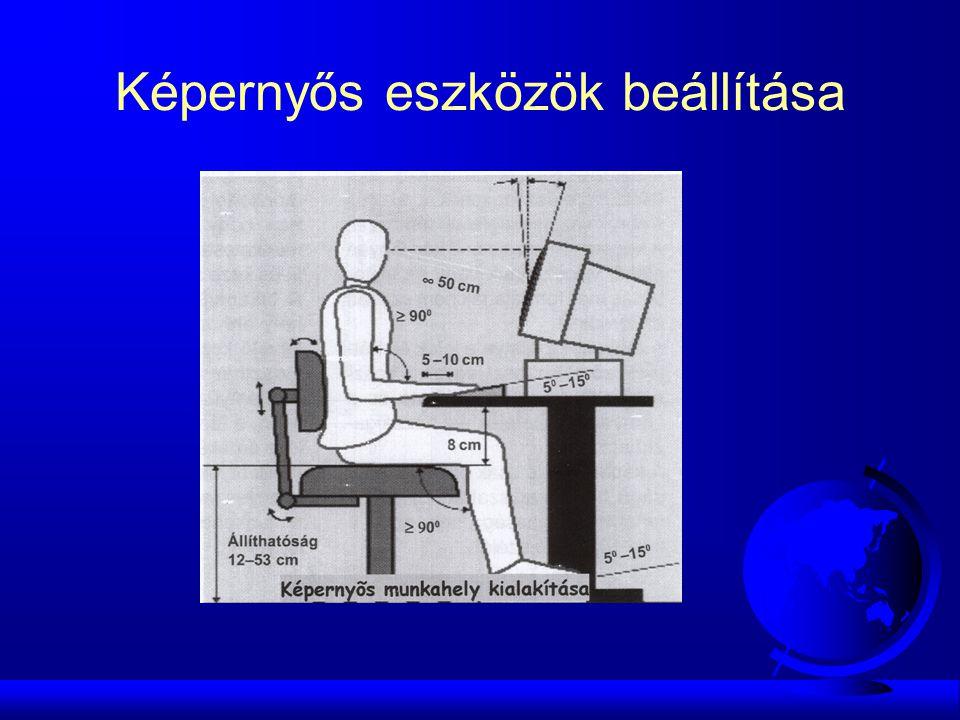 Képernyős eszközök beállítása