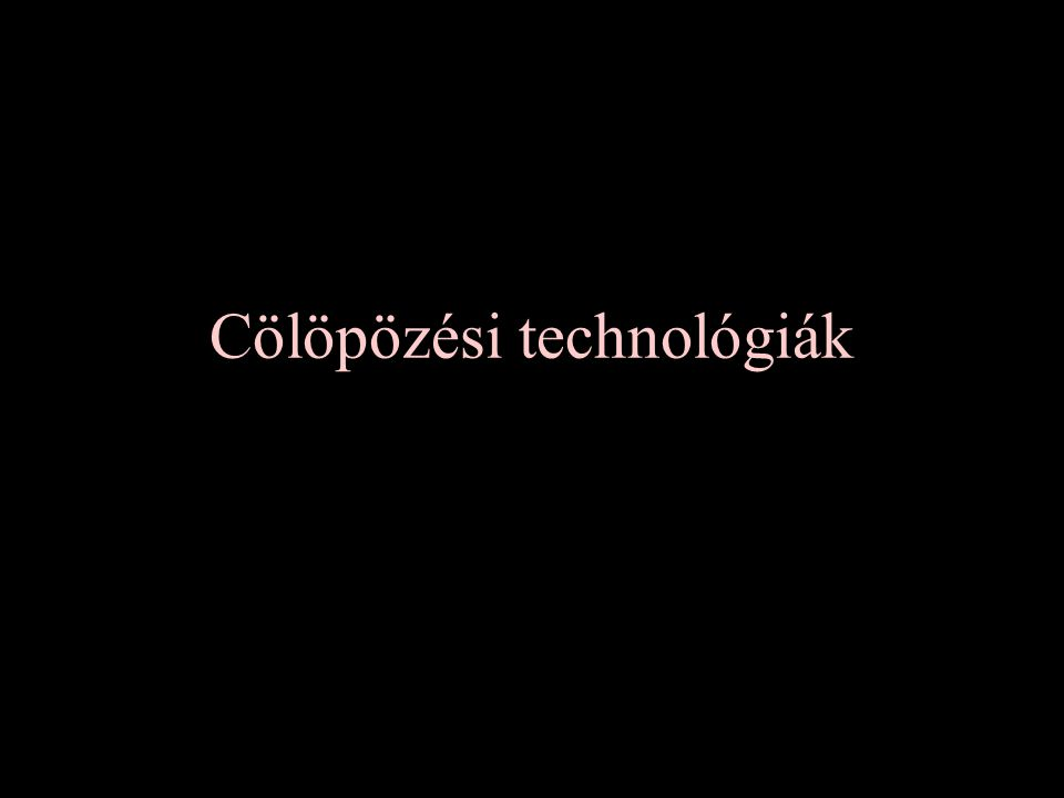 Cölöpözési technológiák