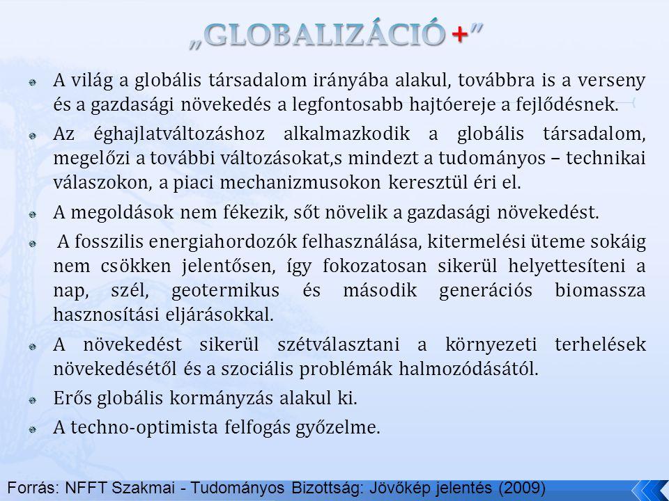  A világ a globális társadalom irányába alakul, továbbra is a verseny és a gazdasági növekedés a legfontosabb hajtóereje a fejlődésnek.