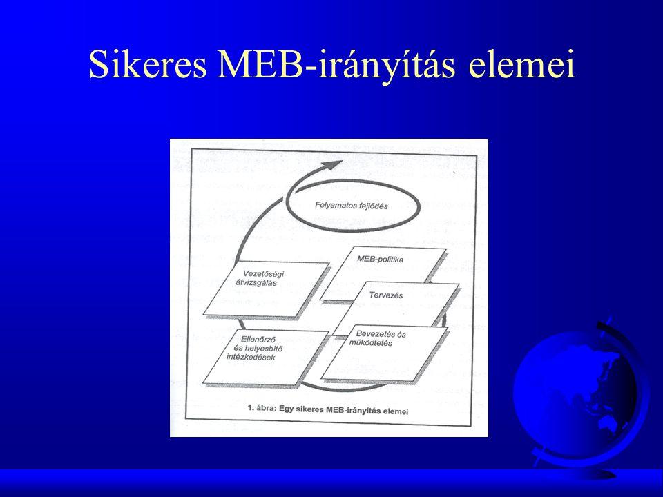 Sikeres MEB-irányítás elemei