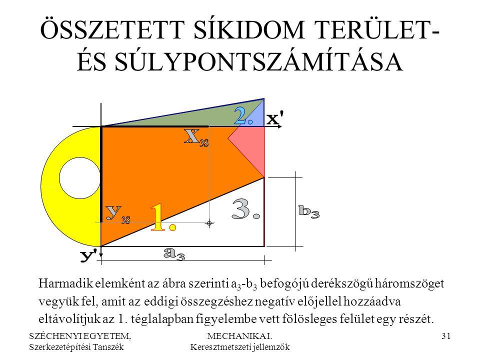 SZÉCHENYI EGYETEM, Szerkezetépítési Tanszék MECHANIKA I.