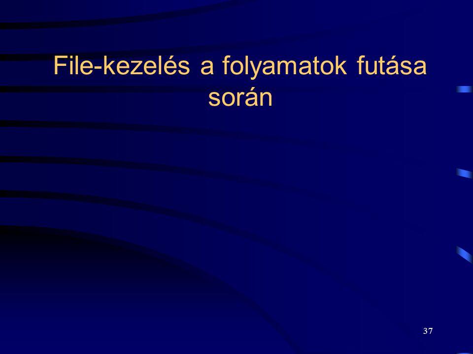 37 File-kezelés a folyamatok futása során