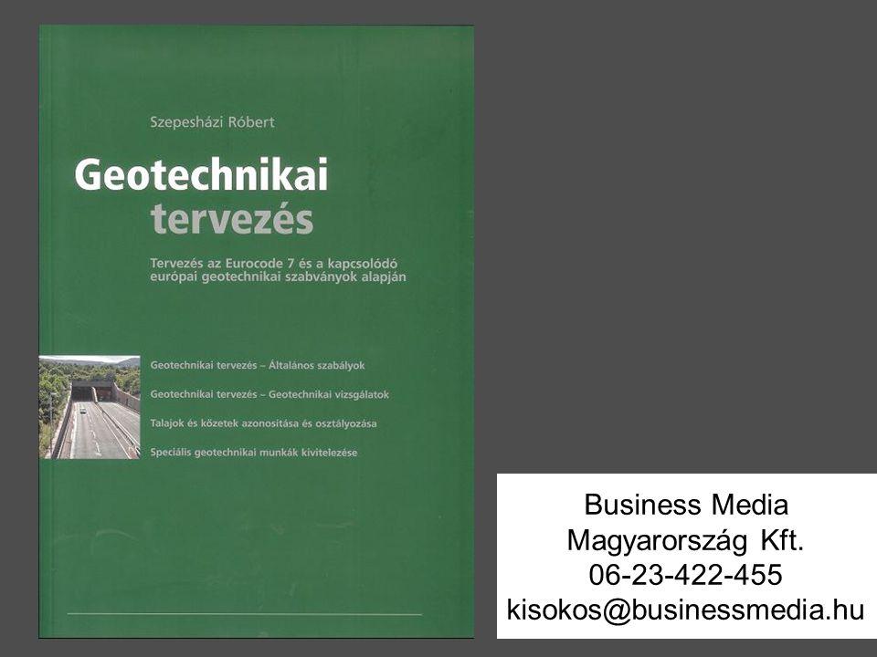 Business Media Magyarország Kft. 06-23-422-455 kisokos@businessmedia.hu