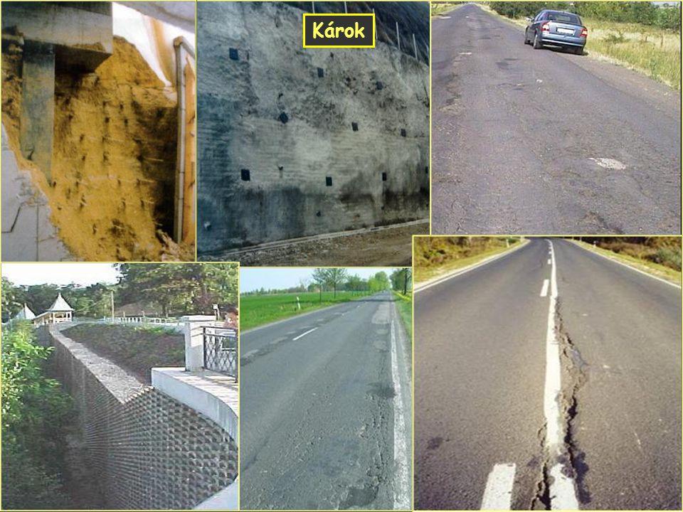 Geotechnikai hibák Károk