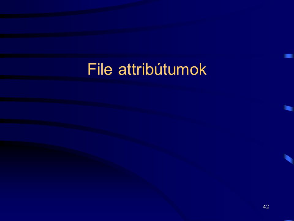 42 File attribútumok