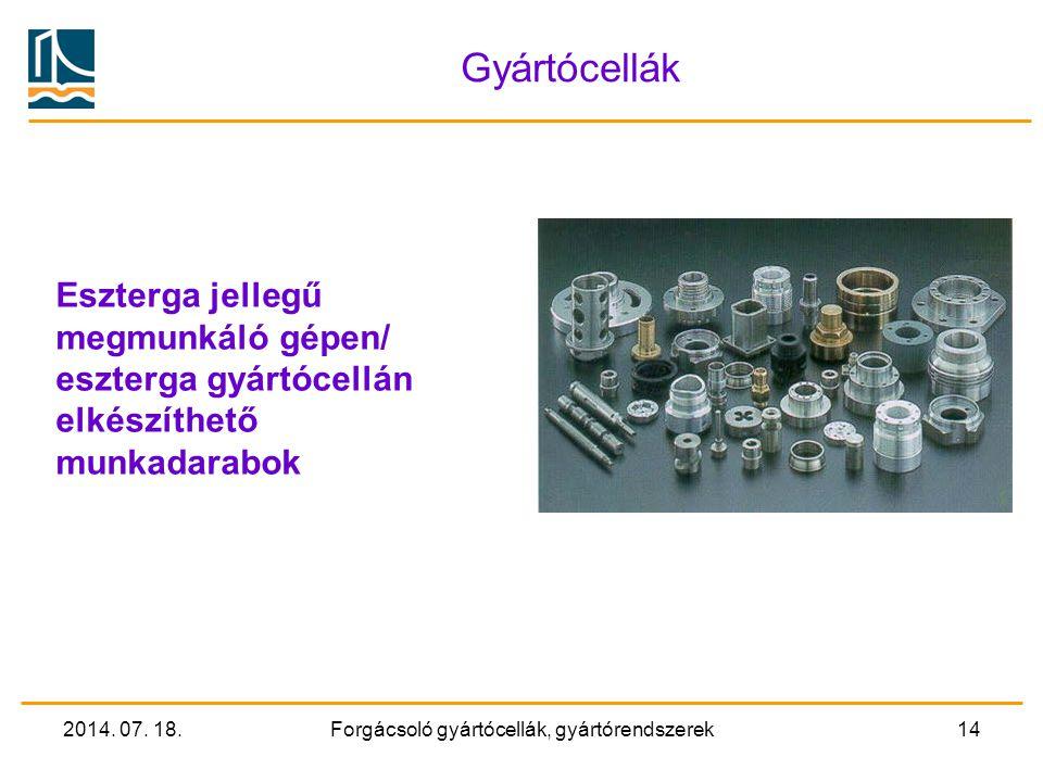 2014. 07. 18.Forgácsoló gyártócellák, gyártórendszerek13 Megmunkálóközpont Példák szerszámcserélőre