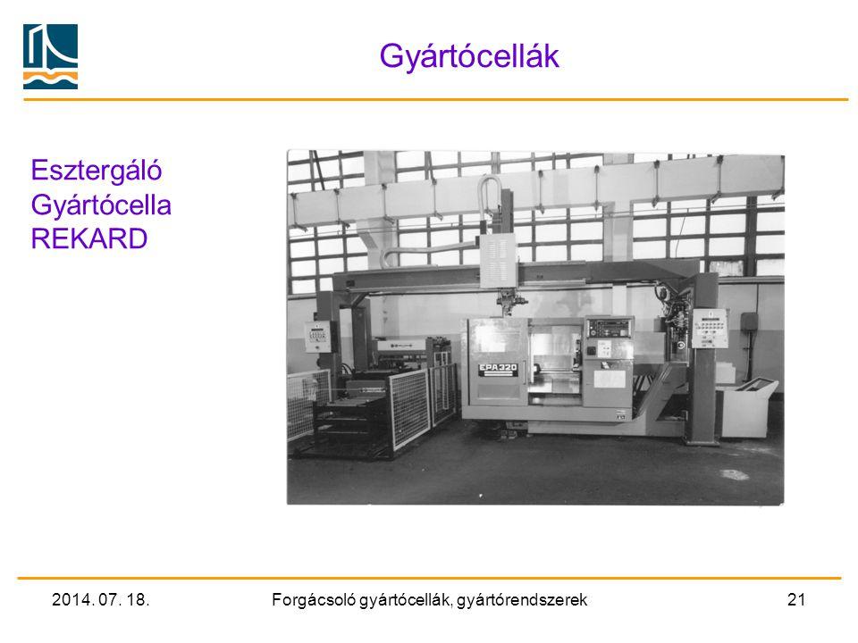 2014. 07. 18.Forgácsoló gyártócellák, gyártórendszerek20 Forgácsoló megmunkáló FMS 5D megmunkáló központok alkotják a cella forgácsoló gépeit A celláh
