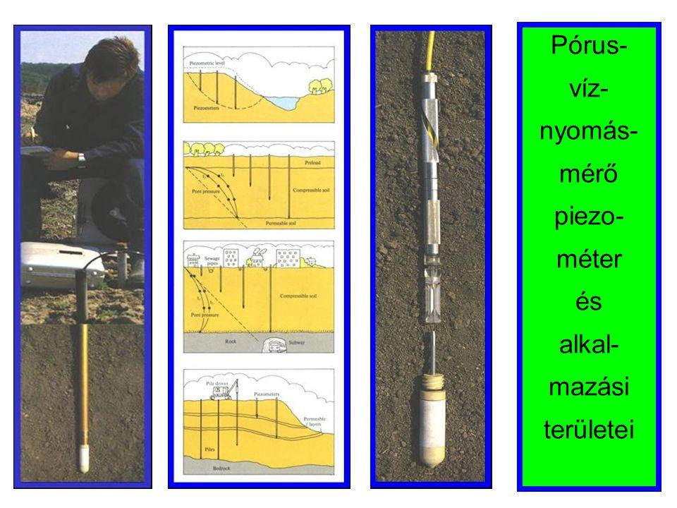 Pórus- víz- nyomás- mérő piezo- méter és alkal- mazási területei