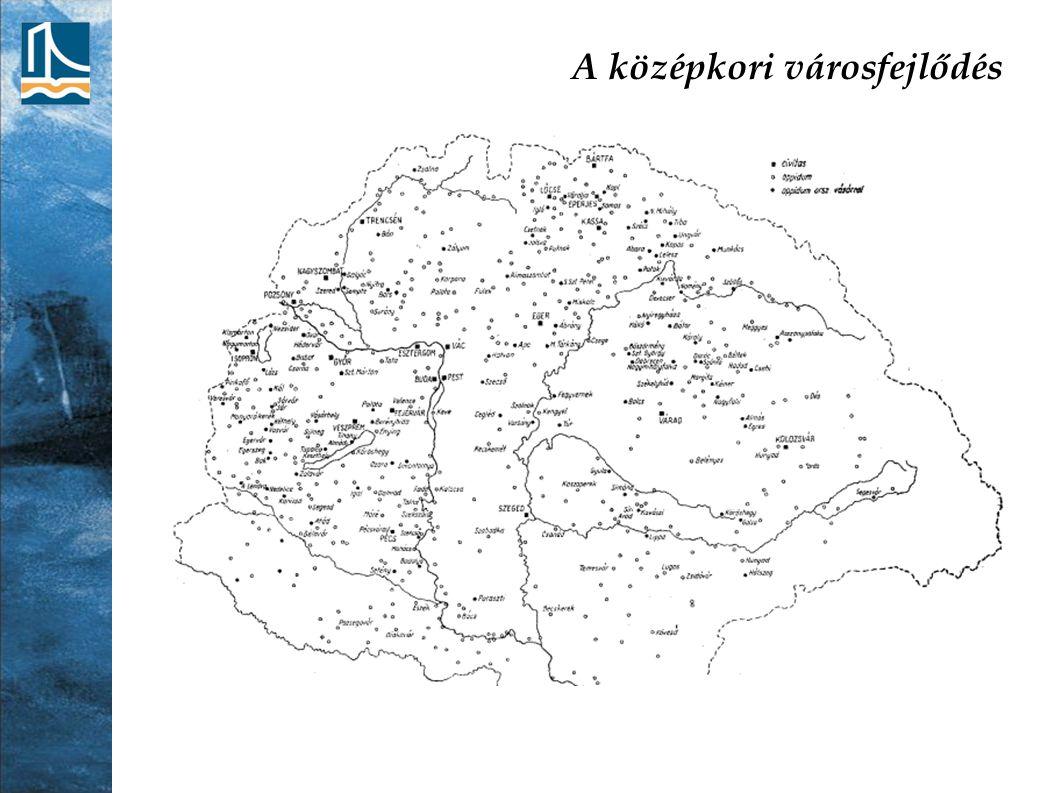 A mai településhálózat kialakulása Trianon után: aránytalan településhálózat; Budapest túlsúlyos, nincsenek valódi régióközpontok Vidéki központok funkcionális megerősítése az elcsatolt területek városainak intézményeivel (pl.