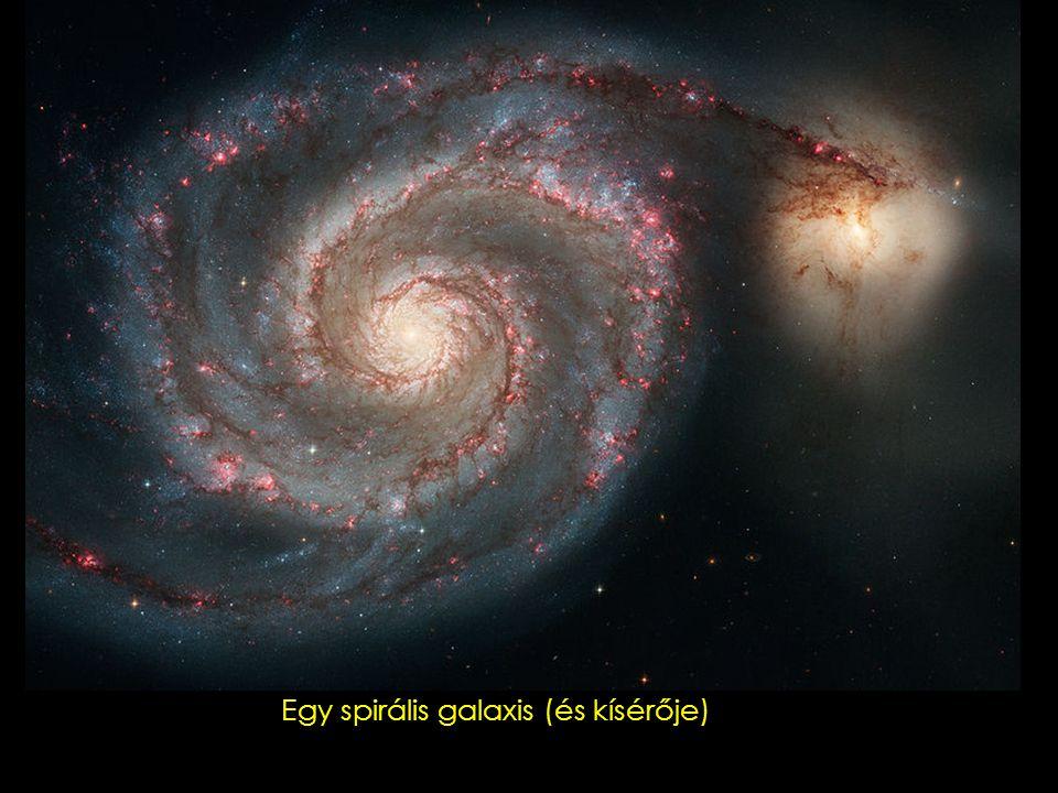 Egy spirális galaxis sok porral