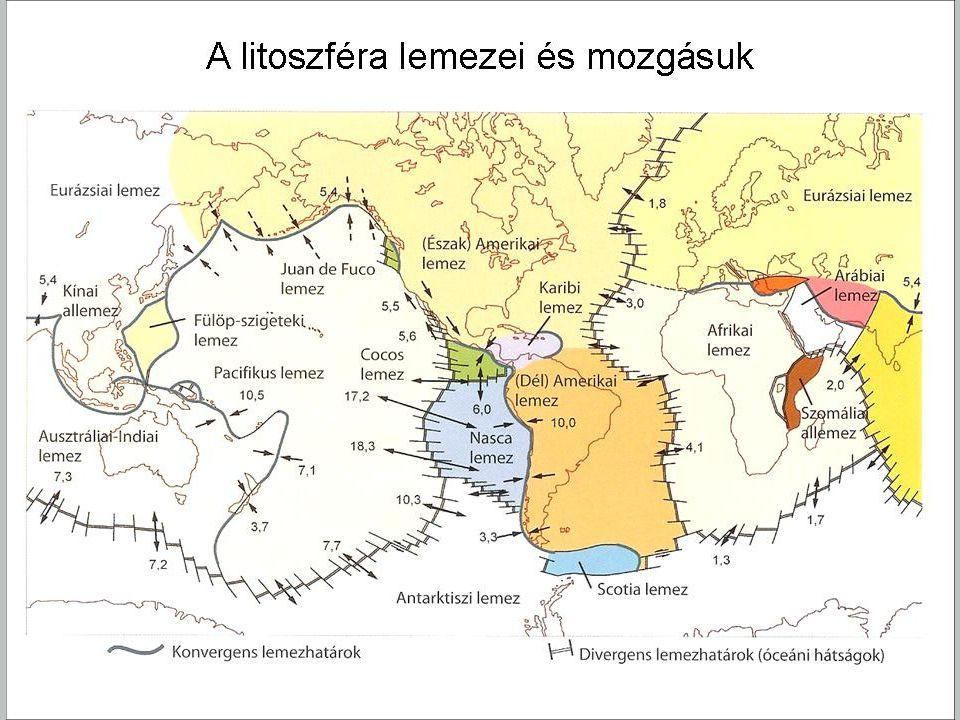 Földrengések eloszlása