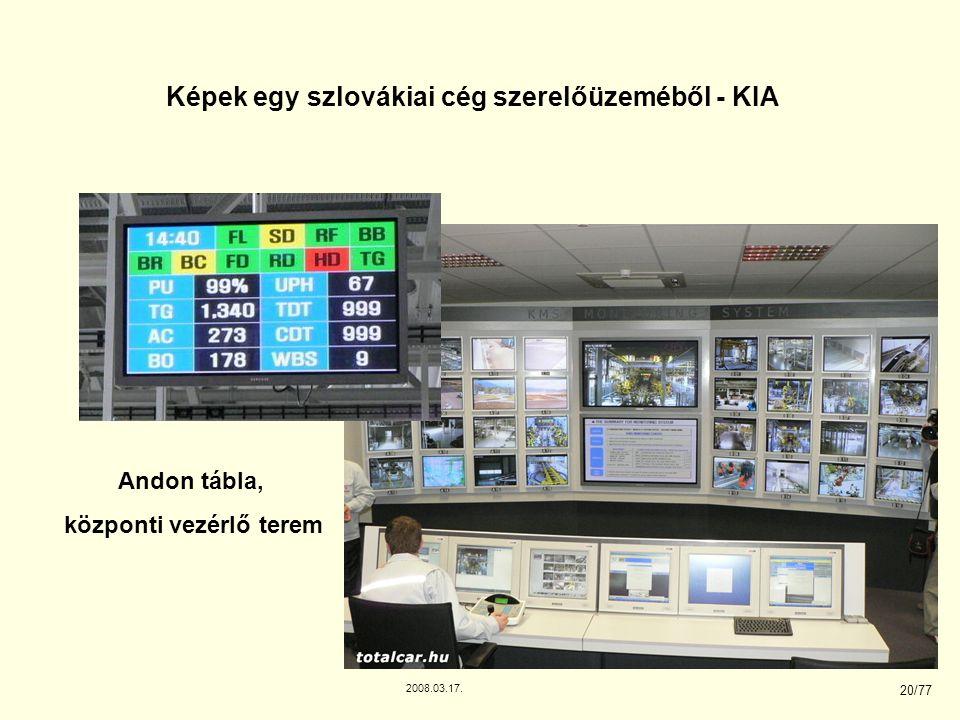 2008.03.17. 20/77 Képek egy szlovákiai cég szerelőüzeméből - KIA Andon tábla, központi vezérlő terem