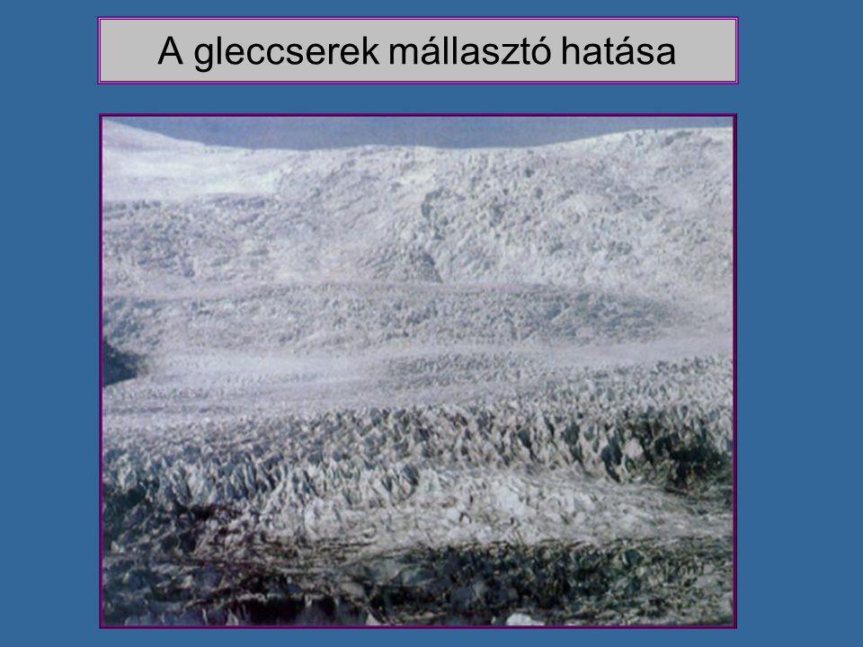 A gleccserek mállasztó hatása