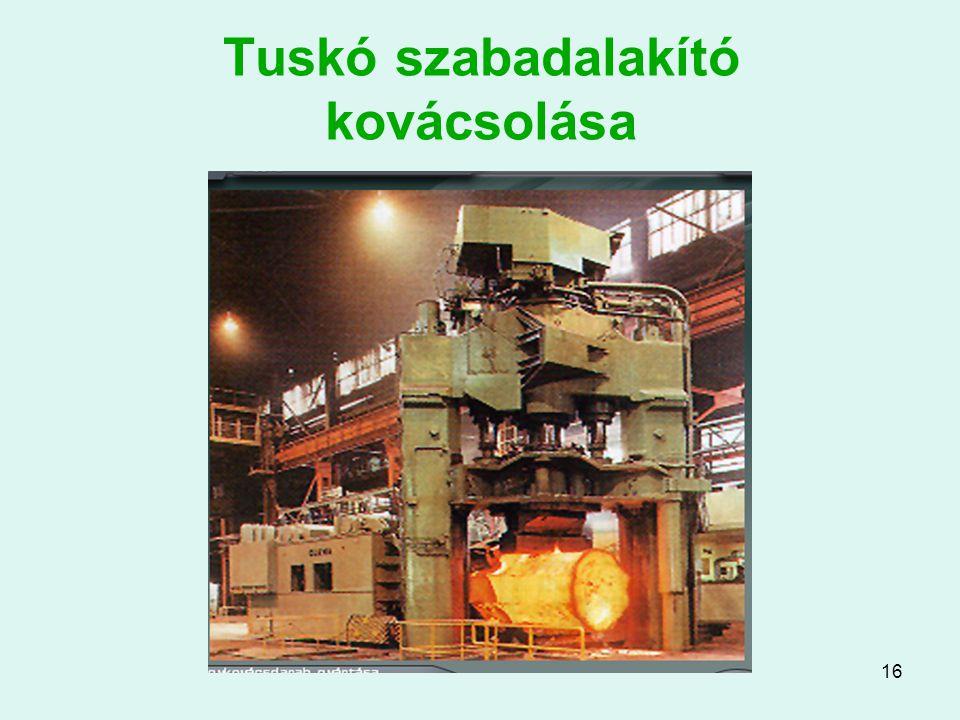 16 Tuskó szabadalakító kovácsolása