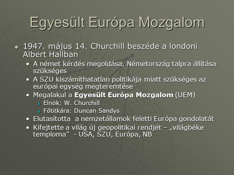 Egyesült Európa Mozgalom  1947. május 14.
