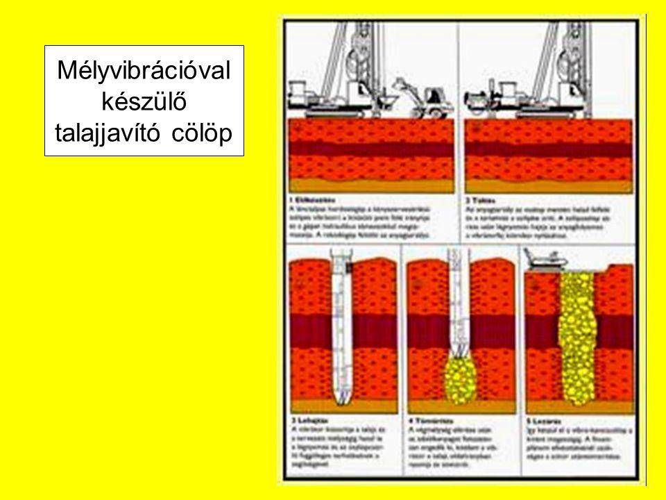 Mélyvibrációval készülő talajjavító cölöp