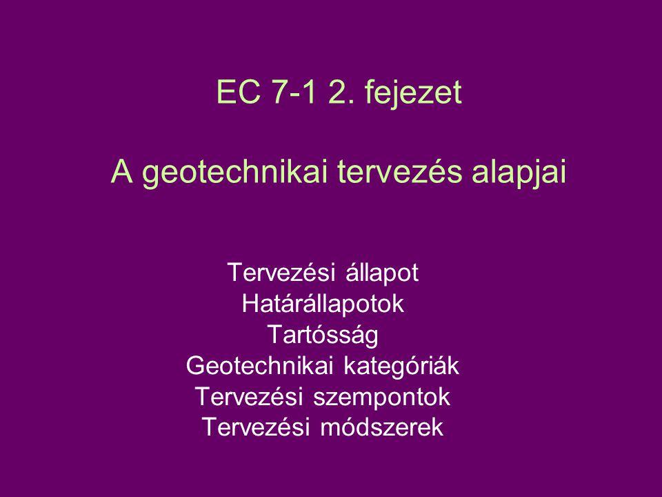 EC 7-1 3.fejezet Geotechnikai adatok 2.