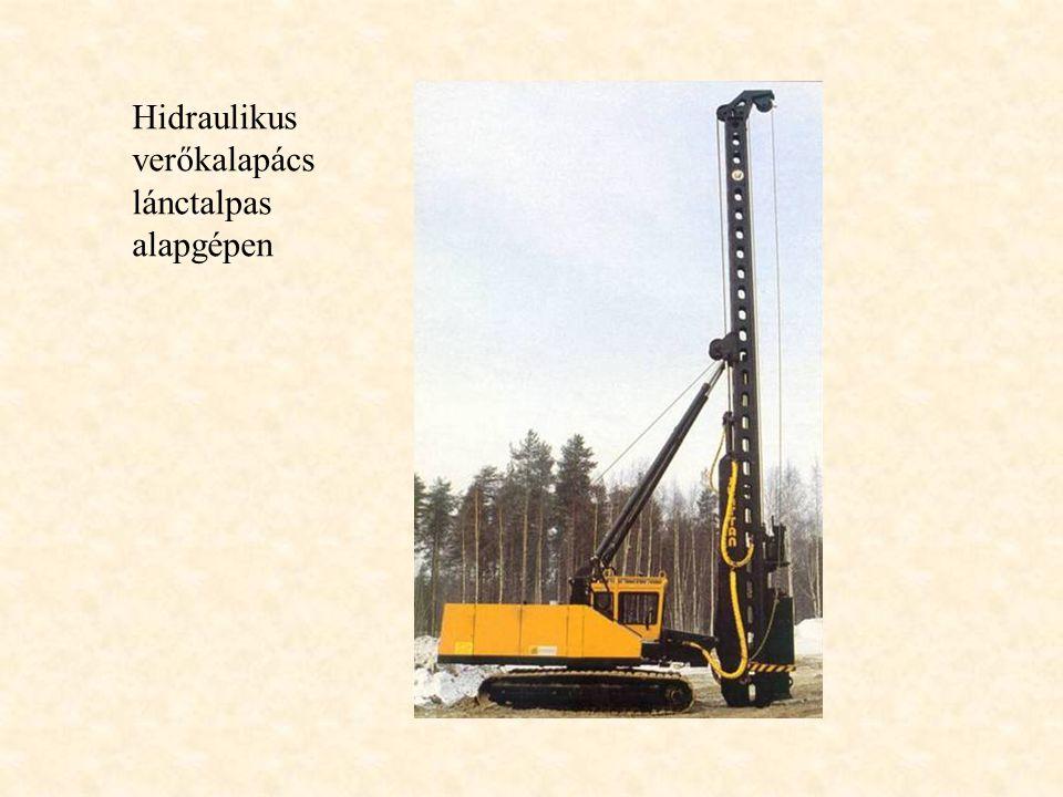 Hidraulikus verőkalapács lánctalpas alapgépen