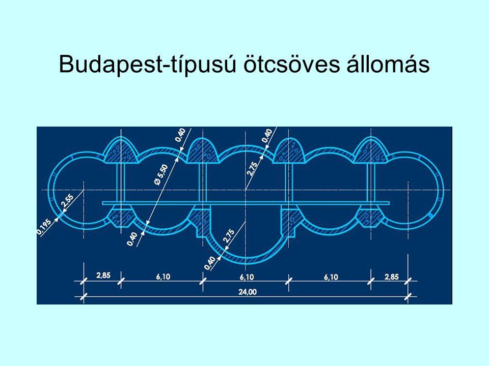 Budapest-típusú ötcsöves állomás
