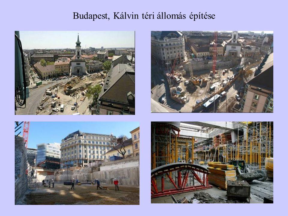 Budapest, Kálvin téri állomás építése
