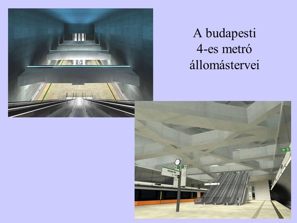 A budapesti 4-es metró állomástervei