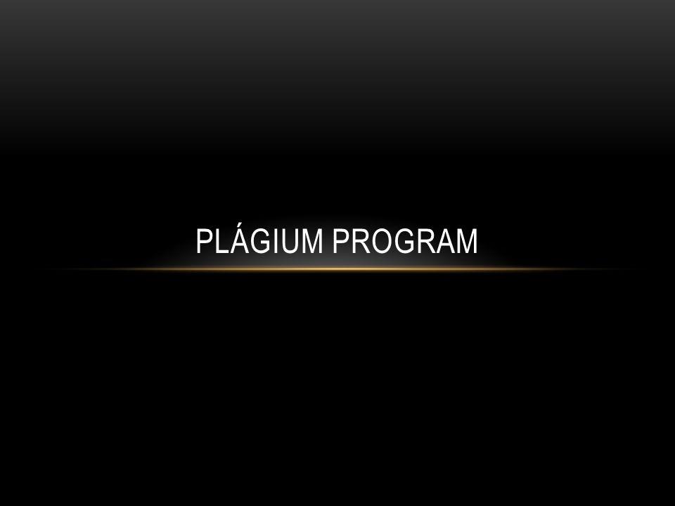 PLÁGIUM PROGRAM