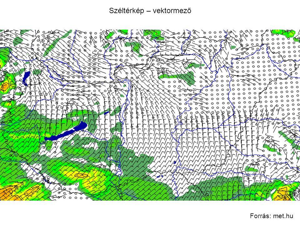 Széltérkép – vektormező Forrás: met.hu