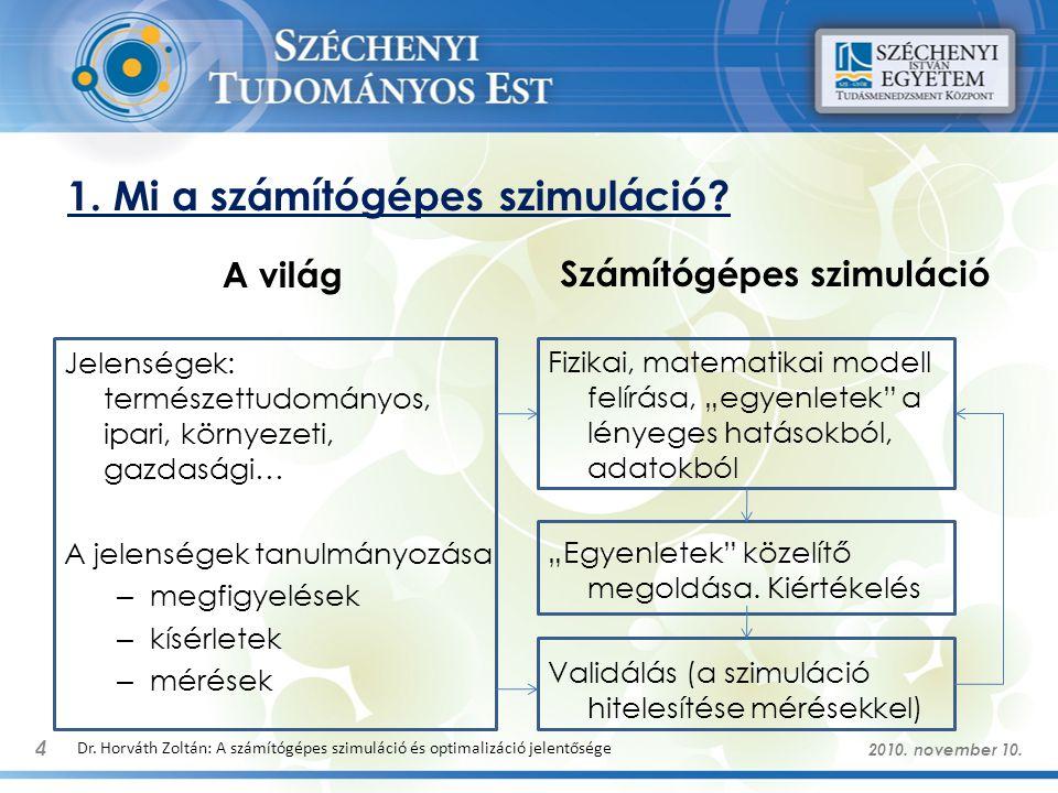 Példák szimulációkra 5 Dr.