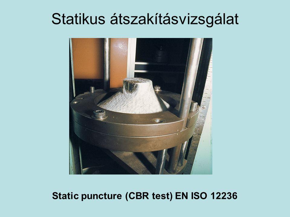 Statikus átszakításvizsgálat Static puncture (CBR test) EN ISO 12236
